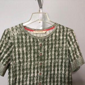 Pilcro & the Letterpress Cable Knit Print Sweater
